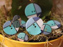 Boutons - Quadricolores : bleu majoritaire 1