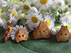 Boutons - Ours en bois 1