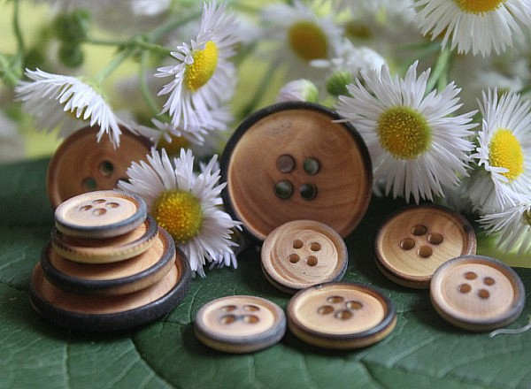 Boutons  - Classique en bois 1