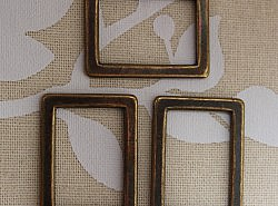 Anneaux - Rectangles bronzes 1