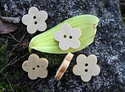 Boutons - Fleur en bois 1