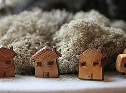 Boutons - Maisons en bois 1