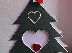 Passepartout - Sapin deux cœurs 1