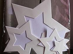 Passepartouts - Set de 3 étoiles 1