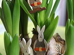 Boutons - Lapins attendant le jour de Pâques 1