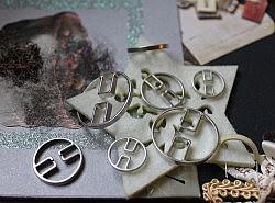 Boutons - Légers ronds métalliques 1
