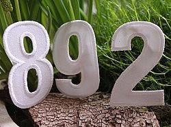 Motifs thermocollants - Les chiffres en noir ou blanc 1