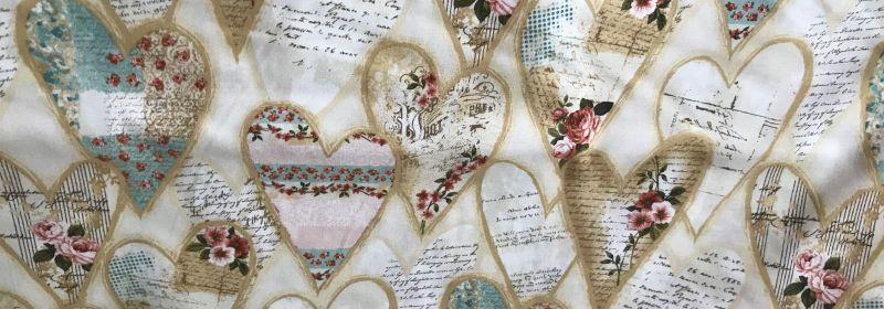 Tissu – Envolée de coeurs en musique