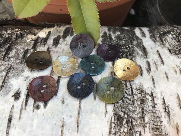lot bouton metal 9 couleurs