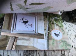 Calendrier de l'Avent broderie modèle oiseaux