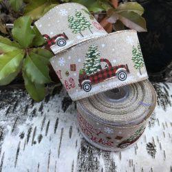 ruban de noel avec auto